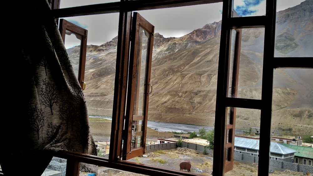 The view from Hotel Spiti Heritage